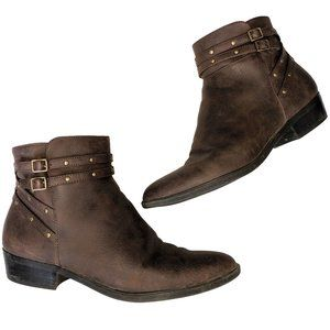 CHAPS Shauna Brown Ankle Boots 9.5B